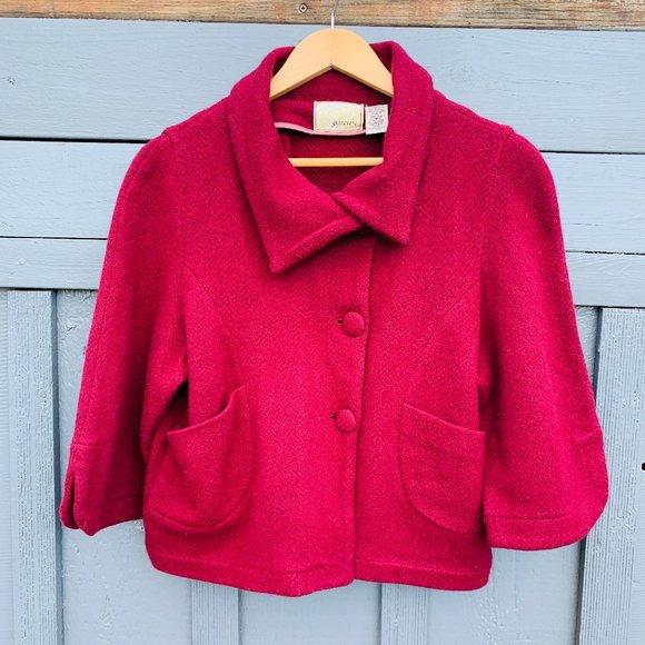 ANTHRO Guinevere Retro Wool Jacket